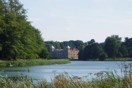 Blickling Hall across the lake