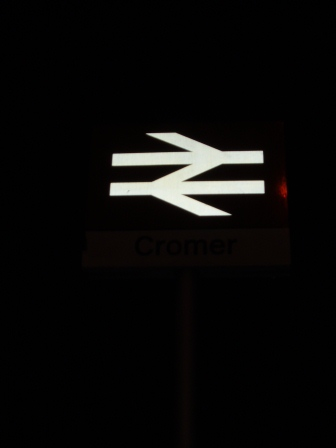 The British Rail sign at Cromer