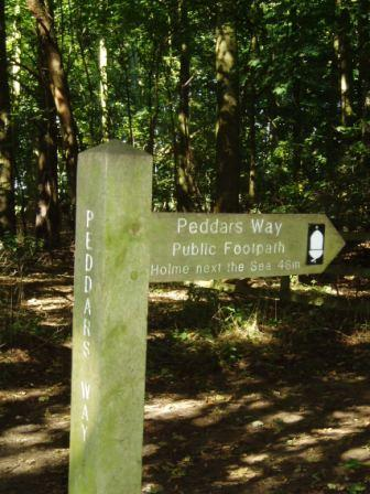 First of the Peddars Way Markers