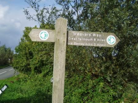 Halvergate Weavers Way Sign