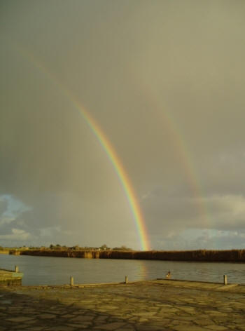 A rainbow over the River Yare