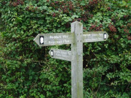 Last of the Peddars Way signs