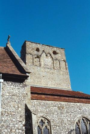The old tower of Weybourne Church